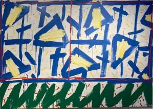 Untitled, 1991 Acryl on canvas 115 x 162 cm