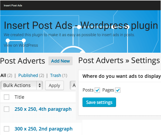 Plugins: Insert Post Ads