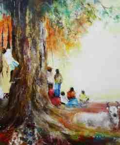 Mauritius Arts & Artists - mauritius-arts-kalindi-jundoosing-the-tree