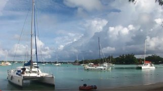 Marina of Grande Baie Mauritius