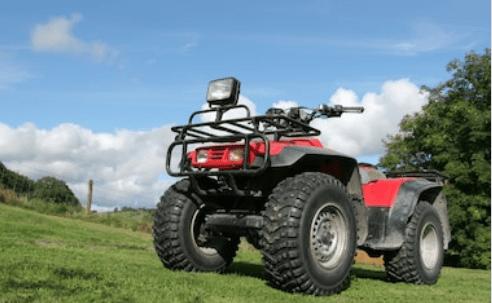 A quad bike put on grass in Mauritius