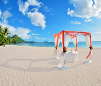 Beach wedding getting married in Mauritius
