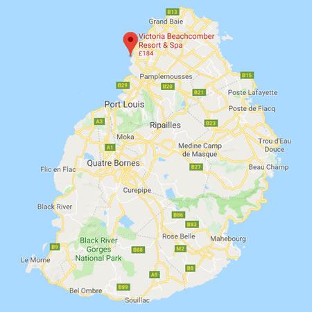 Victoria location map