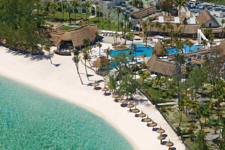 Ambre Hotel Mauritius Aerial View