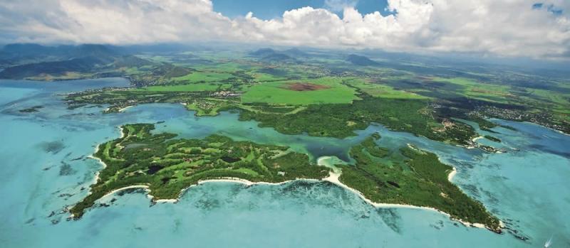 Ile Aux Cerfs Golf Course aerial view Mauritius
