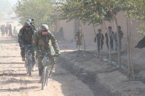 Op de fiets in afghanistan