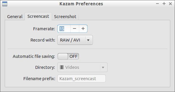 Kazam preferences
