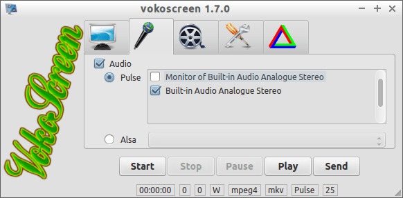 vokoscreen audio preferences