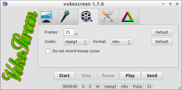 vokoscreen video setting