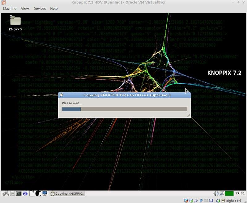 Knoppyx 7.2 HD  copying