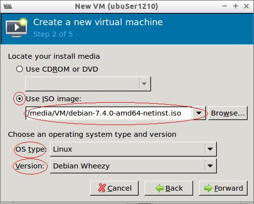 virt-manager Create New VM  2/5