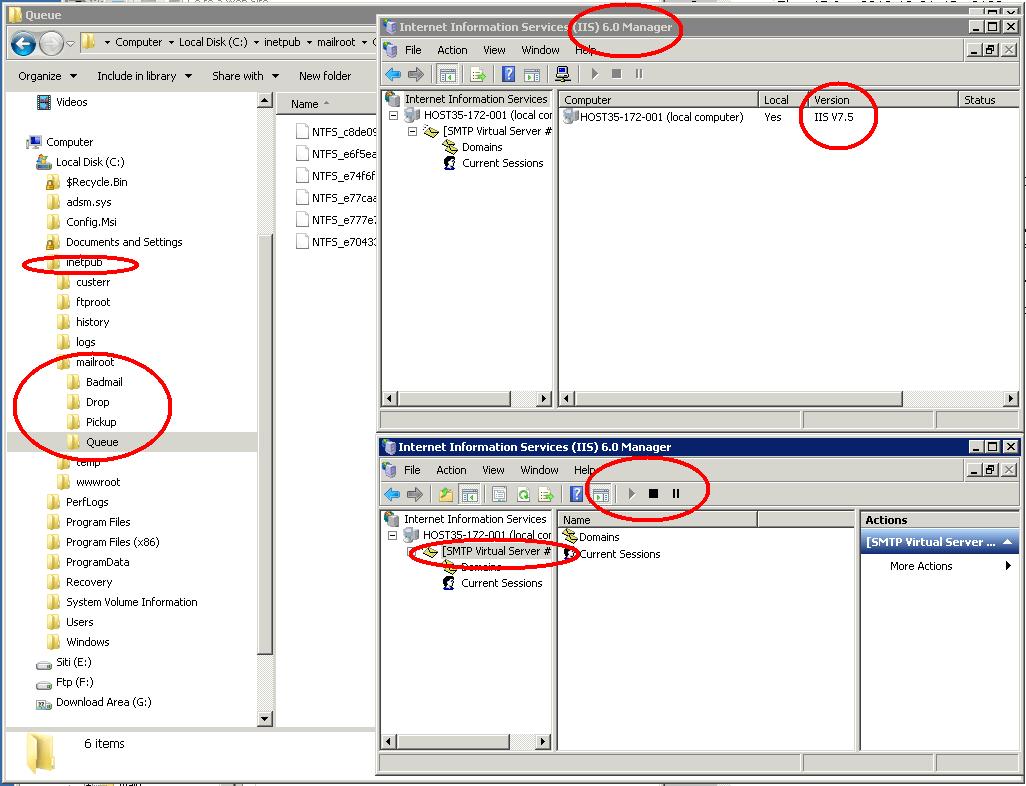 windows 2008 IIS 6.0 email server