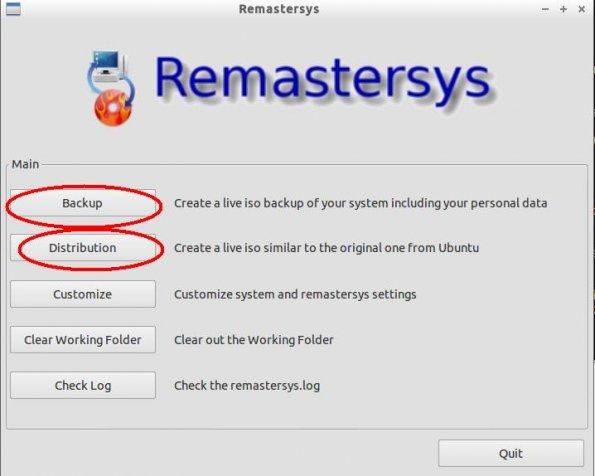 Live DVD/CD  personalizzata e/o Backup per Ubuntu Debian