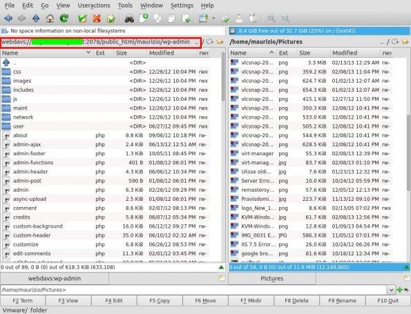 webDAV krusader
