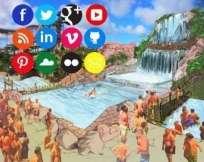 scivolo acquatico parchi acquatici e social network