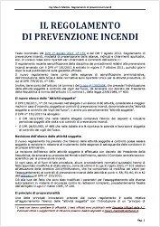 Il regolamento di prevenzione incendi - Ing. Mauro Malizia