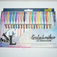 20 Gelschreiber von Folia Metallic & Glitter