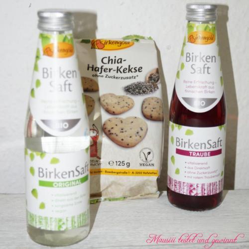 Birkengold Birkenwasser und Chia-Hafer-Kekse #meetablogger