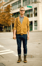 Mustard-Cardigan-for-men-classic-look