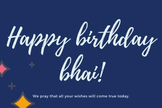 Happy Birthday Bhai mere Status Quotes Messages Hindi English