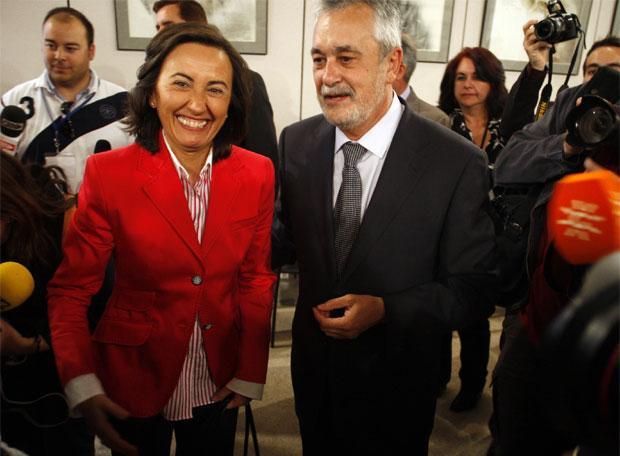 Rosa Aguilar y José Antonio Griñán