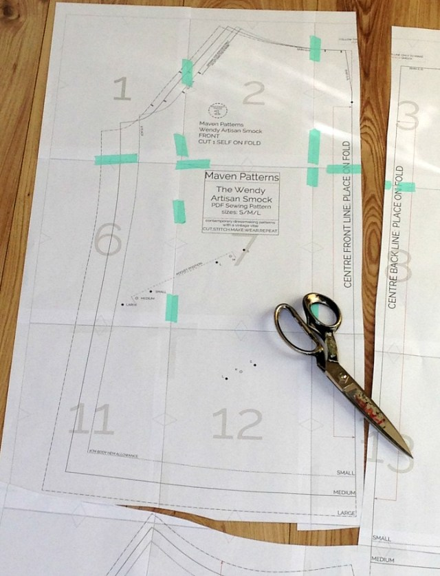 How to print and tile a PDF sewing pattern