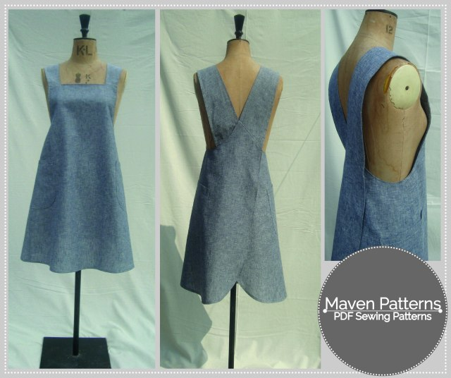 The Maria Wrap Apron PDF sewing pattern
