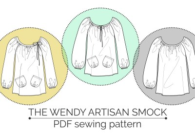 The Wendy Artisan Smock by Maven Patterns