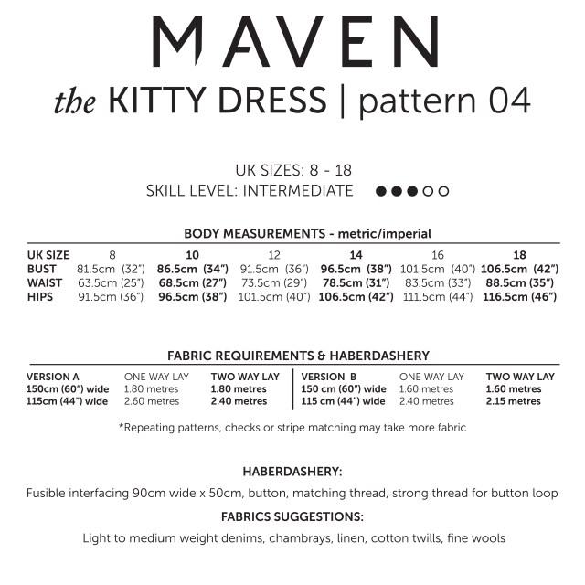 THE KITTY DRESS_MAVEN PATTERNS