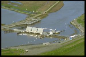The Suisun Marsh Salinity Control Gates (photo by DWR)