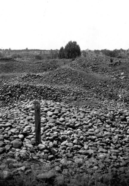 Placer tailings, Folsom City. Sacramento County, California. 1905. From the USGS