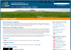 Click here to visit DWR's Water Transfers website.