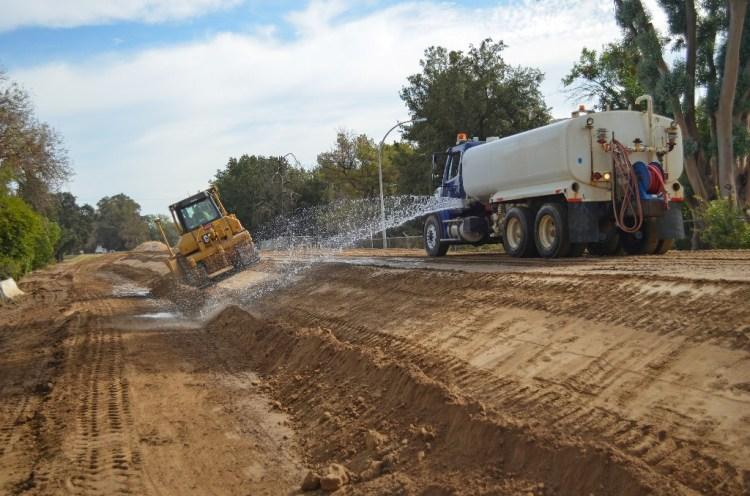 American River levee work