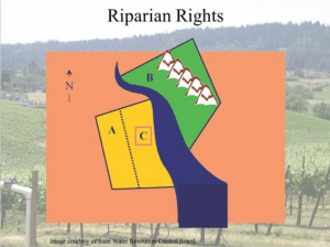 Riparian rights diagram