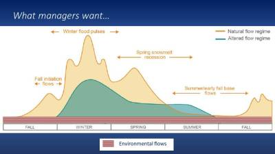 What water managers want for envirnomental or functional flows