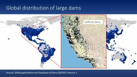 The global distribution of dams