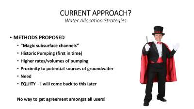 Approaches to establishing groundwater pumping allocations