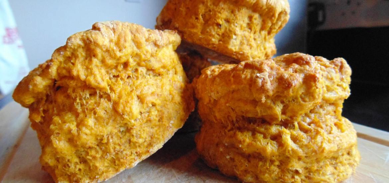 savoury pumpkin parmesan scones