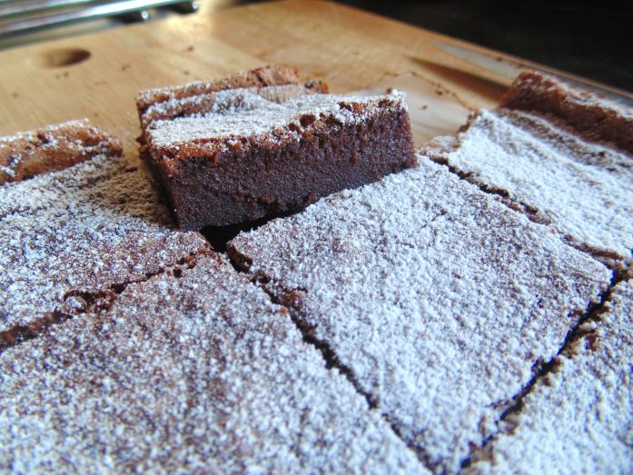 two ingredient nutella brownies