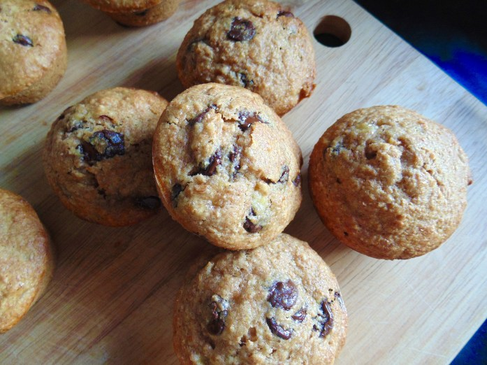 Healthy Chocolate Chip Banana Muffins!