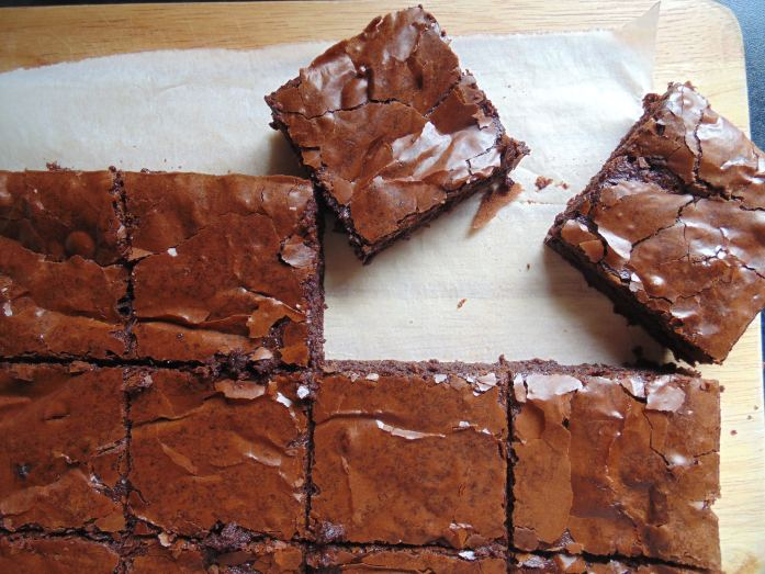 dairy free triple chocolate brownies
