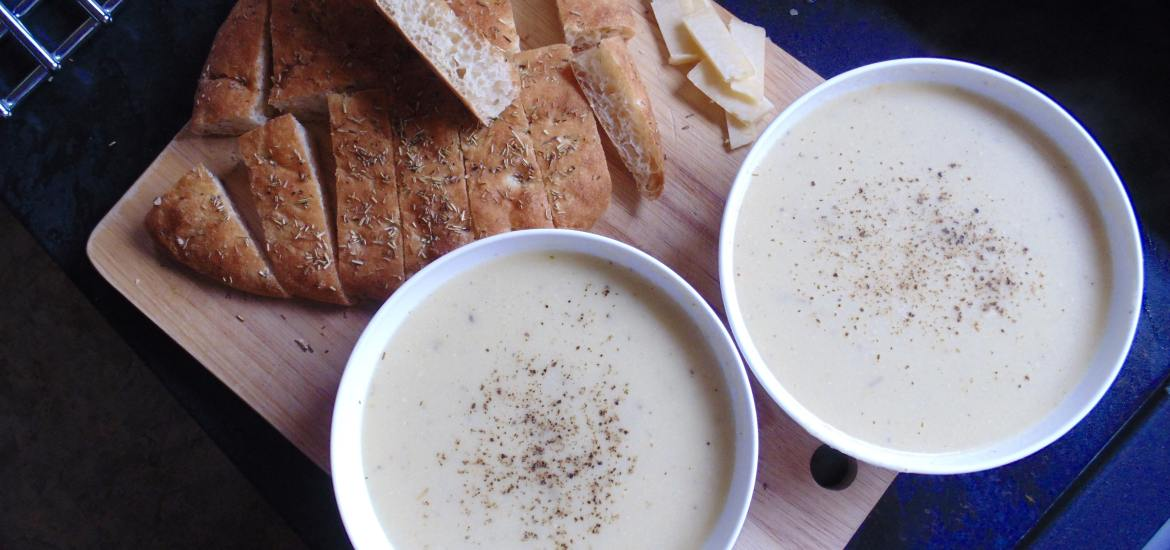 cheddar parsnip and apple soup