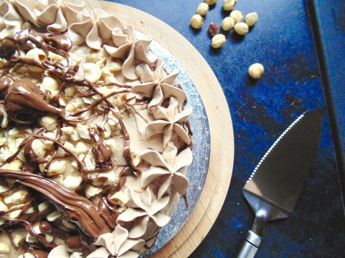 Hazelnut Latte Cake