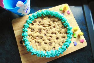 giant mini egg cookie cake