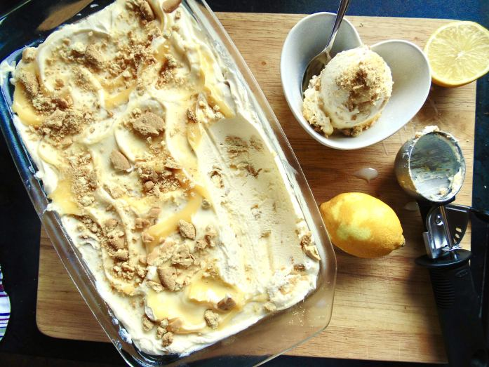 Easy Lemon Cheesecake Ice Cream