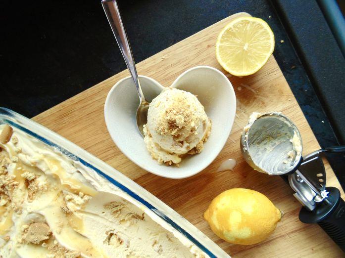 Easy Lemon Cheesecake Ice Cream!