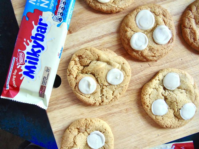 milky bar cookies