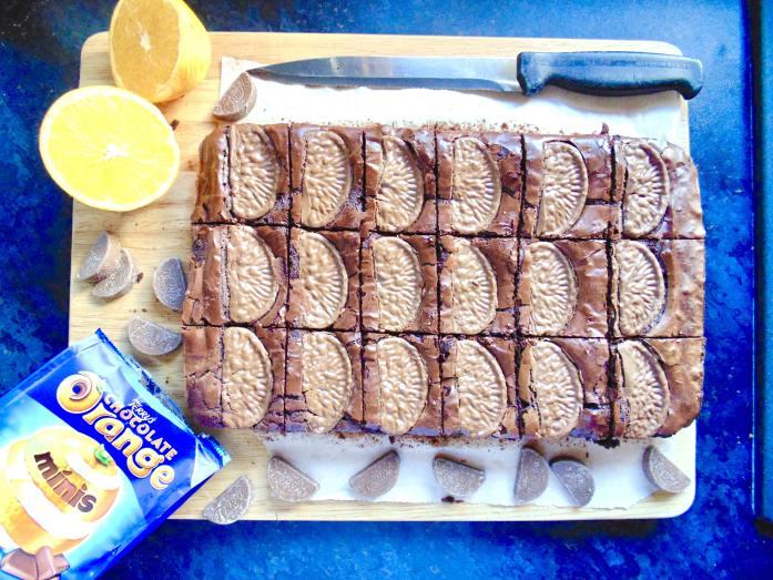 triple chocolate orange brownies