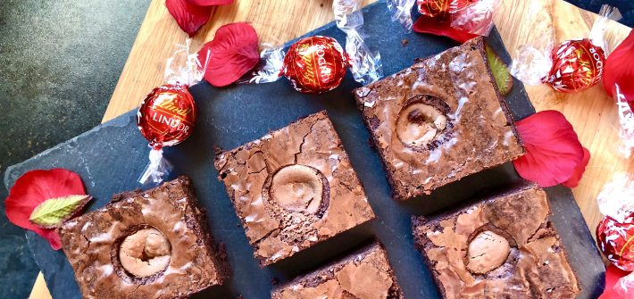 melting lindt lindor brownies