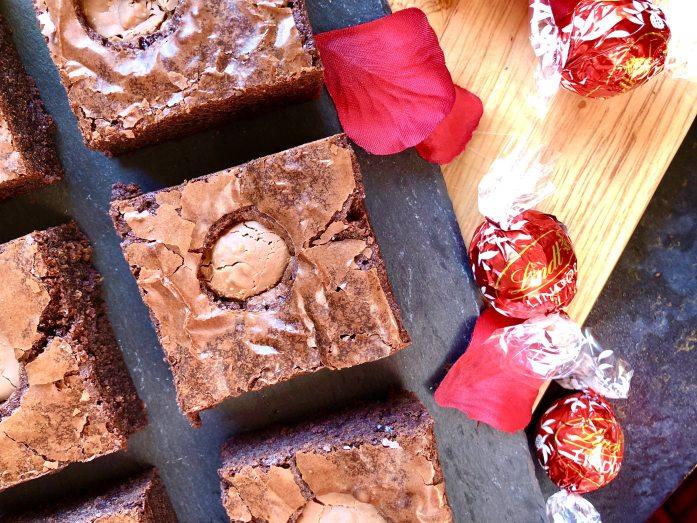 melting lindt lindor brownies